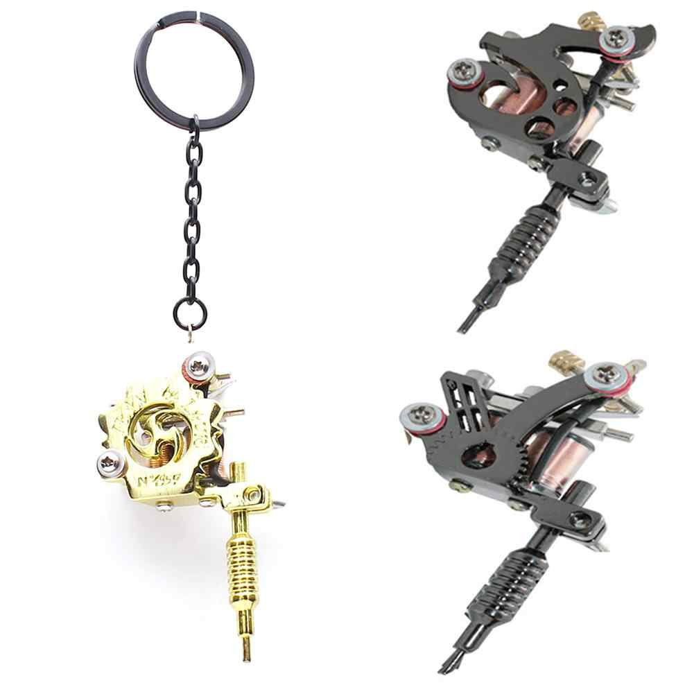 Fashion Gantungan Kunci Mini Tato Mesin Liontin Portable Key Finder Gantungan Kunci Trendi Perhiasan Cincin Kalung Anting-Anting Aksesori Baru