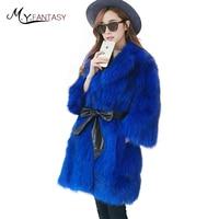 M Y FANSTY 2017 Winter Fox Fur Long Women S Real Fox Fur Coats Double