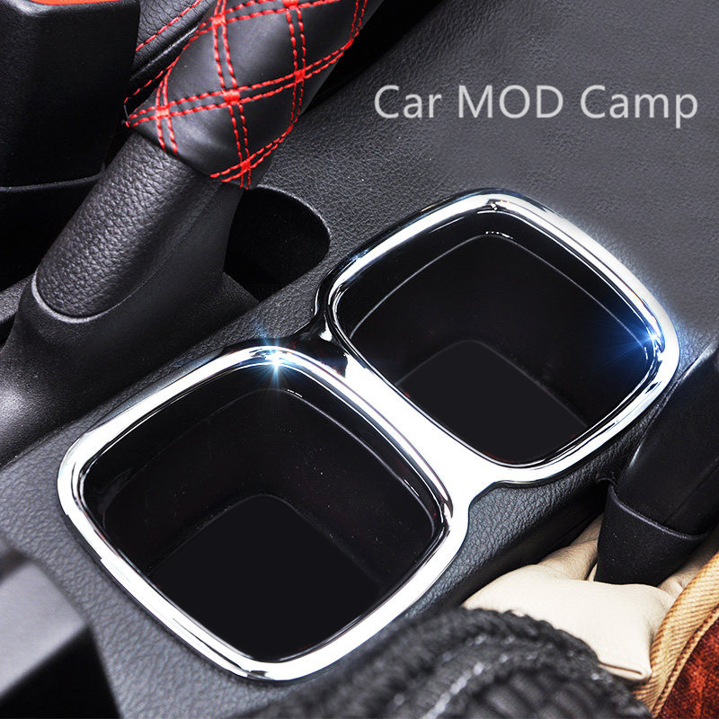 For Suzuki SX4 S-Cross 2014 2015 2016 2017 2018 ABS Chrome Interior Water Cup Holder Cover Trim 1pcs Car Styling accessories!