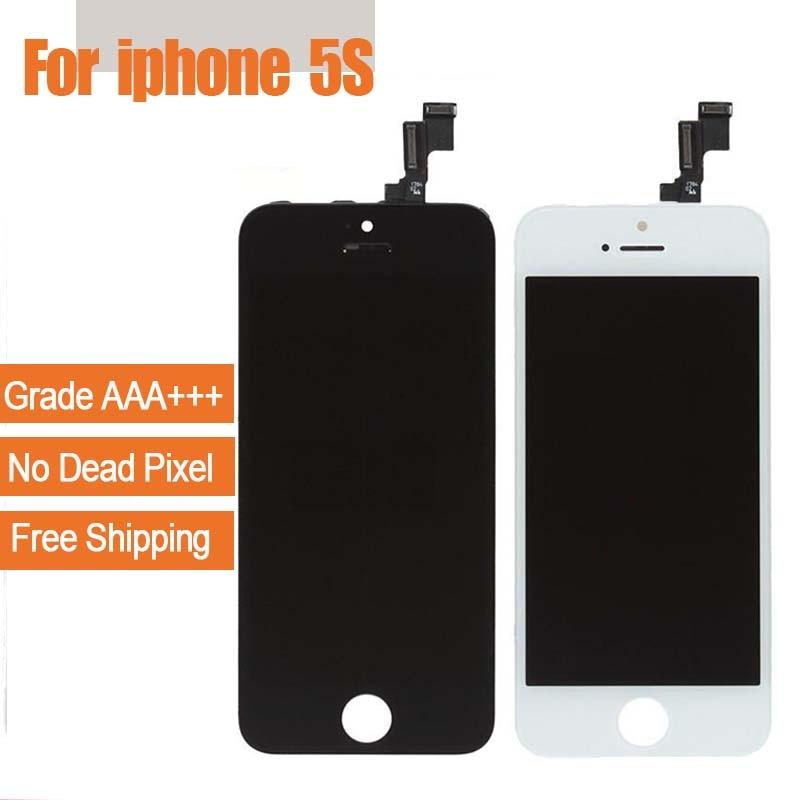 لمس شاشة lcd محول الأرقام آيفون 5 ثانية شاشة lcd كاملة ل iphone5s جودة aaa + + أدوات مجانية شحن مجاني-في شاشات LCD للهاتف المحمول من الهواتف المحمولة ووسائل الاتصالات على