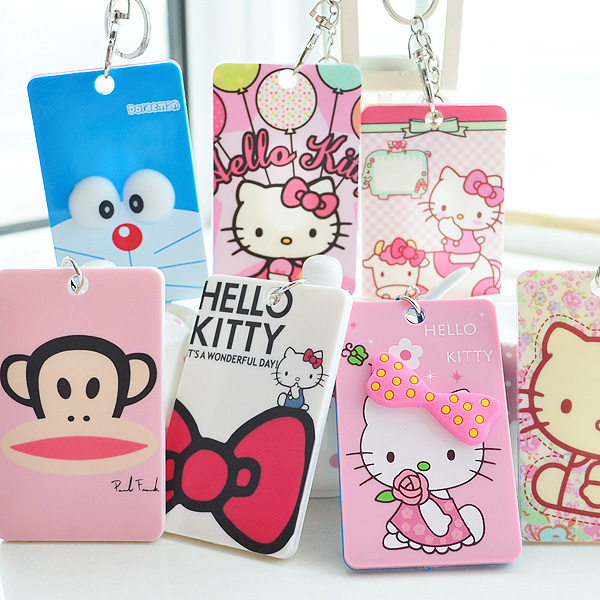 Aliexpress buy 5 pcslot kawaii 3d cartoon hello kitty 5 pcslot kawaii 3d cartoon hello kitty doraemon business card holder office reheart Images