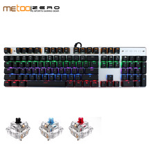 METOO ZERO Gaming Mechanical Keyboard Blue/Black/Red Switch Anti-ghosting Backlight Teclado Wired USB for Gamer English/Russian russian english layout metal keyboard blue red switch gaming wired mechanical keyboard rgb anti ghosting for computer