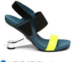 2017 Newest Design Summer Strange Style Heels Sandals Colorful Special Sexy High Heels Dress Shoes summer special style 100