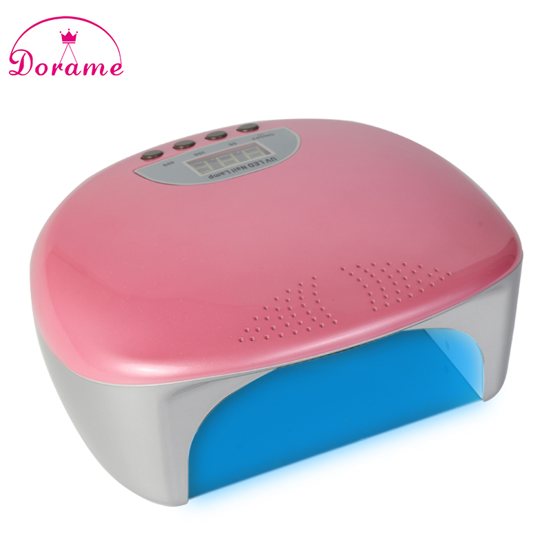 ФОТО Dorame SUNT9 48W UV Lamp Dual UV LED Nail Lamp Nail Dryer Gel Polish Curing Lamps For Nails 5s/30s/60s Timer LCD display