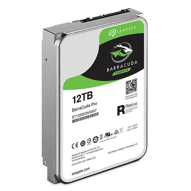 Seagate 12TB Desktop HDD Internal Hard Disk Drive 7200RPM SATA3 6Gb/s 256MB Cache 3.5″HDD Drive Disk For Computer ST12000DM0007 Internal Hard Drives