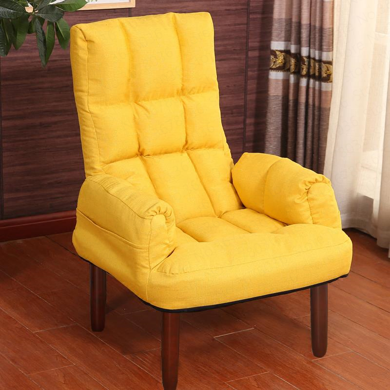 Lazy Couch TV Computer Sofa Chair Feeding Breastfeeding Chair Japanese Folding Recliner Single Couch for Building Foldable(China)