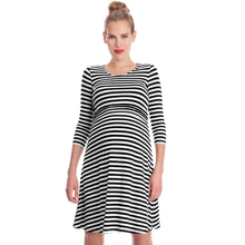 Casual Maternity Nursing Dress Clothes Pregnancy Nurse Wear Cotton Stripe Dress Pregnant Women Lactation Vestido Clothing Summer