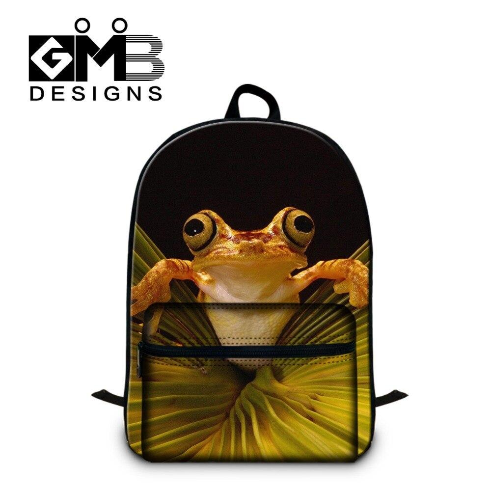 Cute polypedatid 3D printed Backpacks for women Teen girls school bookbags stylish laptop back pack for