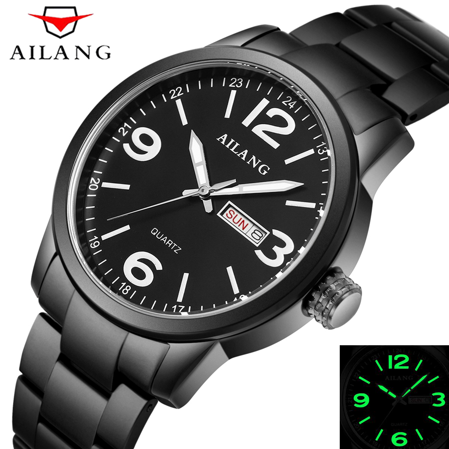 Top Brand AILANG Luxury Men Full Steel Sport Watches Men's Luminous Quartz Clock Man Military Wrist Watch Waterproof Shockproof top brand luxury watch men full stainless steel military sport watches waterproof quartz clock man wrist watch relogio masculino