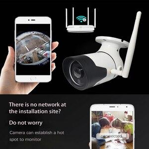 Image 5 - Jvtsmart Outdoor Draadloze Wifi Panoramisch CCTV Camera 1080 P 360 Graden Groothoek Bullet Waterdichte metalen Security Camera v380