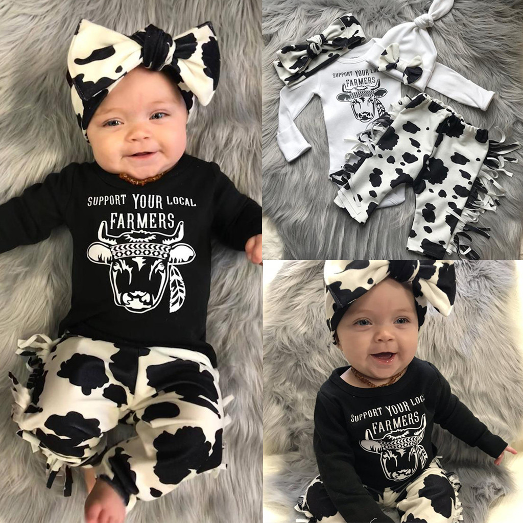 Toddler Newborn Baby Girl Princess Dress Headband Set Infant Kids Cartoon Tops