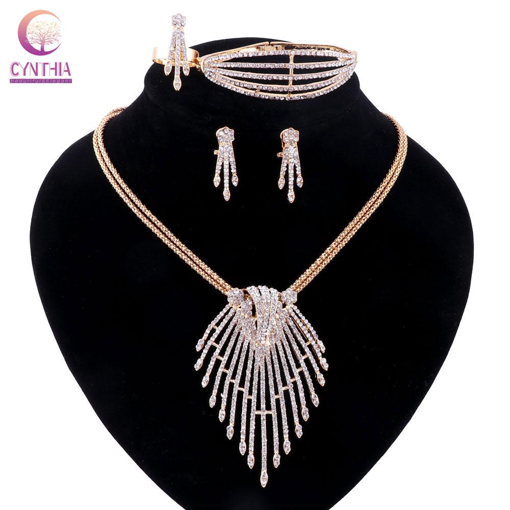 Mujeres 2 colores Conjuntos de joyas chapadas en plata dorada Collar - Bisutería