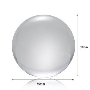 Image 3 - 50 مللي متر/80 مللي متر كريستال الكرة الكوارتز الزجاج كرة شفافة كرات كرة زجاجية التصوير كرات الكريستال الحرفية ديكور فنغ شوي