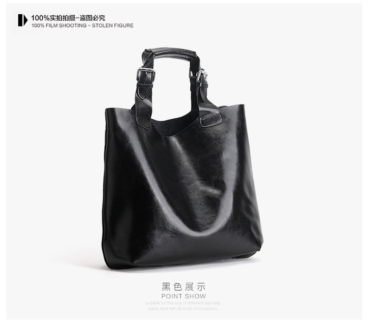 Big Bag Women Handbags Genuine Leather Oil Wax Cowhide Handbags Lady Real Leather shoulder Messenger Bags Generous Fashion Bag (19)