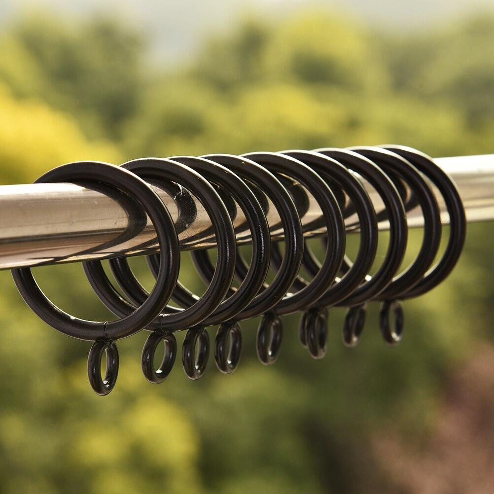10pcs/lot Black Metal Curtain Rings Hanging Rings For