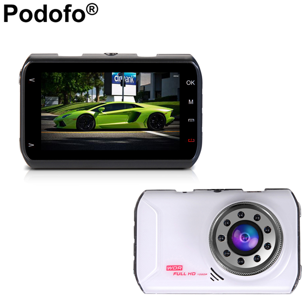 Podofo Original Novatek 96223 Car DVR Camera Dashcam Full HD 1080P Video Registrator Recorder G sensor