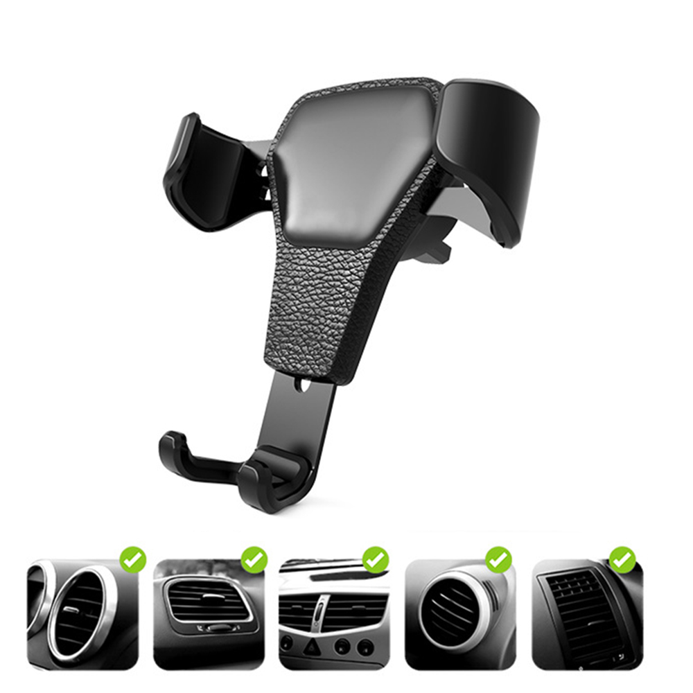 Practical Gravity Car Air Vent Mount Cradle Holder Stand For iPhone Samsung Phone GPS Useful Mobile Phone Car Holder & Mount