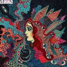Mooncresin 5d «сделай сам» алмазная живопись вышивка крестиком