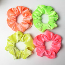 3pcs/Lot Neon Scrunchies Hair Elastic Ties Colorful Ponytail Holders Bright Accessories Velvet For Women