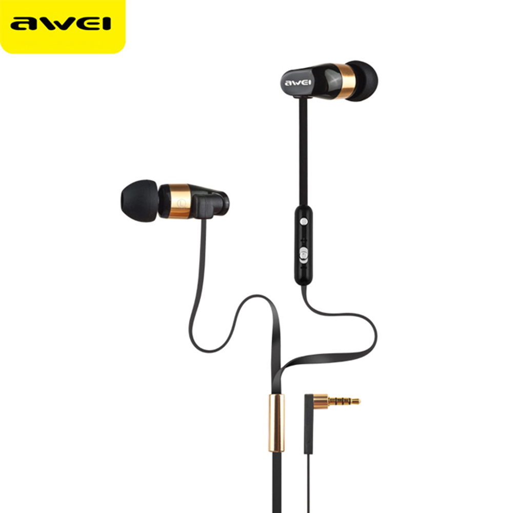 Awei Stereo Wired In Ear Headphone In-Ear Earphones For Phone iPhone Samsung Head Headset Sluchatka Auriculares Earbud Earpiece