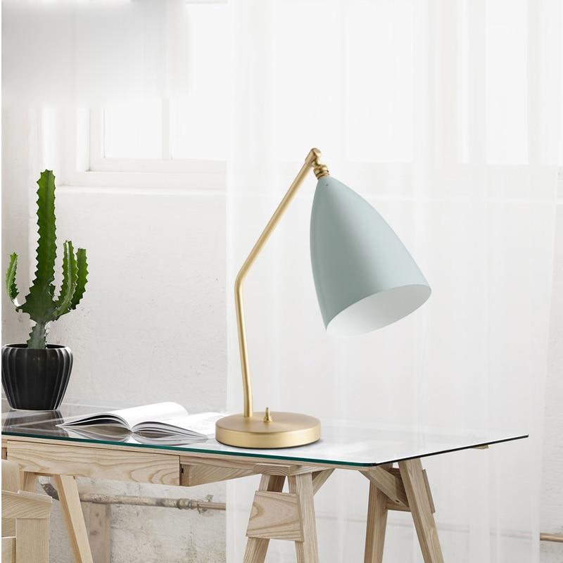 Nordic table lamp metal stent classic desk lamp modern reading lamp study bedroom desk  lights creative lighting