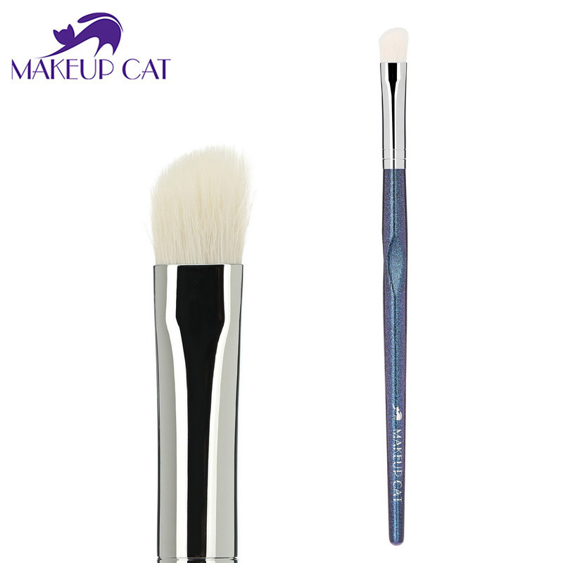 все цены на Makeup Cat Angle Shadow Brush Make up Tool Angle Contour Brush Goat Hair Beauty Make Up Tools Fashion Nariz Brushes XK18 онлайн