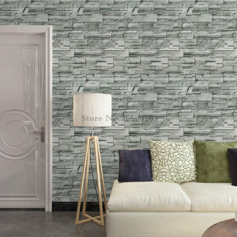 Купить с кэшбэком 0.45X5m Brick Pattern Wall Stickers Wallpaper PVC Wall Decorate Kitchen Waterproof Self Adhesive Wallpaper for Living Room Wall