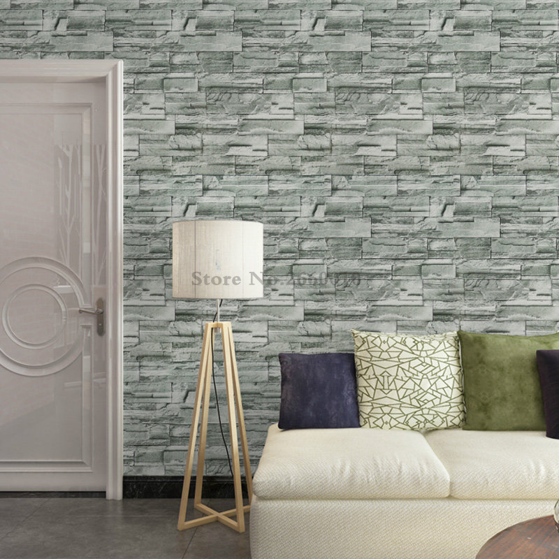 0 45X5m Brick Pattern Wall Stickers Wallpaper PVC Wall Decorate Kitchen Waterproof Self Adhesive Wallpaper for Living Room Wall in Wallpapers from Home Improvement