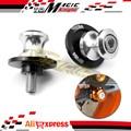 silver Swingarm Sliders Spools stand screws M10 For KTM 1190 1190R RC8 690 Duke SM SMC SMC-R 950 990 990R LC4 Enduro/Supermoto