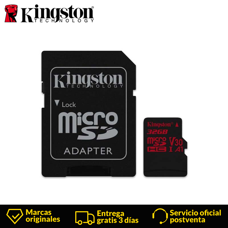 Kingston Class 10 Micro tarjeta SD 32 G microSD Memory Card  Class 10 UHS I Trans  microSDHC 90MB/s 32 GB Micro sd card Black-in Memory Cards from Computer & Office