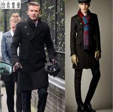 Бесплатная доставка новые 2016 Британских мужчин темперамент шерстяное пальто