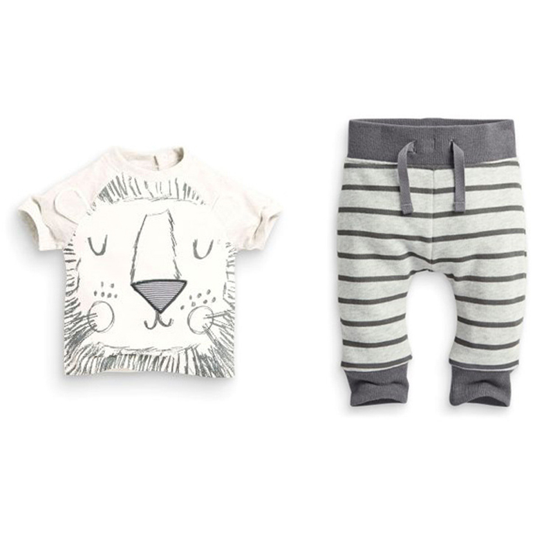 Clearance Sales Summer Style Cotton Little Monsters Short Sleeve Infant Clothes 2 pcs Baby Clothing Sets Baby Boy Clothes