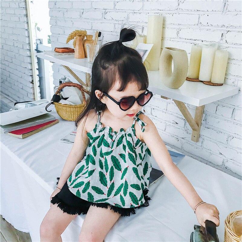Zomer meisjes kleding meisje zomer mini-print blad jurk meisje - Kinderkleding - Foto 3