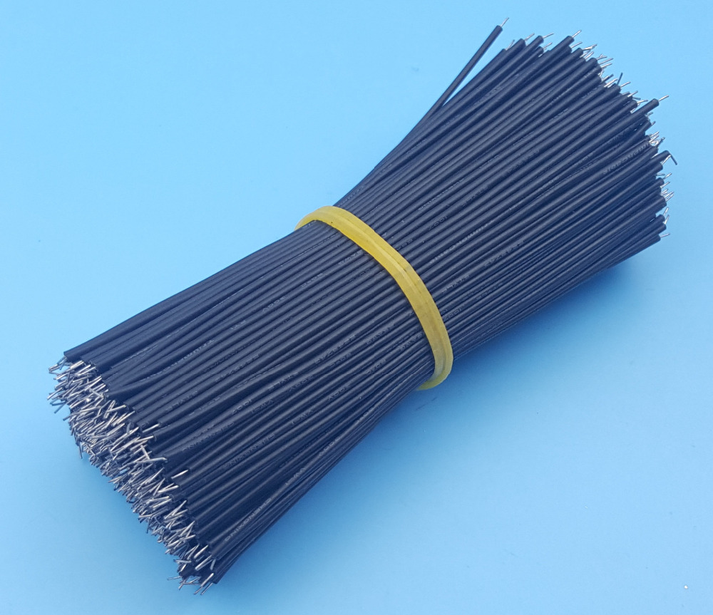 500Pcs Motherboard Jumper Cable Wires Tinned 10cm 26AWG Black-in ...