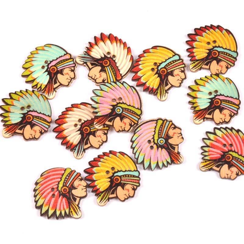 20 шт./лот ручная работа деревянные пуговицы окрашенные Швейные аксессуары популярные швейные изделия - Цвет: 14