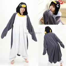 ac9eec463fa9e1f Hksng серый пингвин пижамы животных зимние Для женщин Комбинезоны взрослых  Кигуруми ringtail Косплэй с капюшоном домашняя