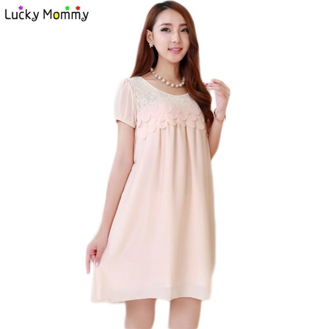 Maternity Dresses for Pregnant Women Summer Chiffon Casual Pregnancy Dress Plus Size Loose Maternity Clothing Pregnant Clothes