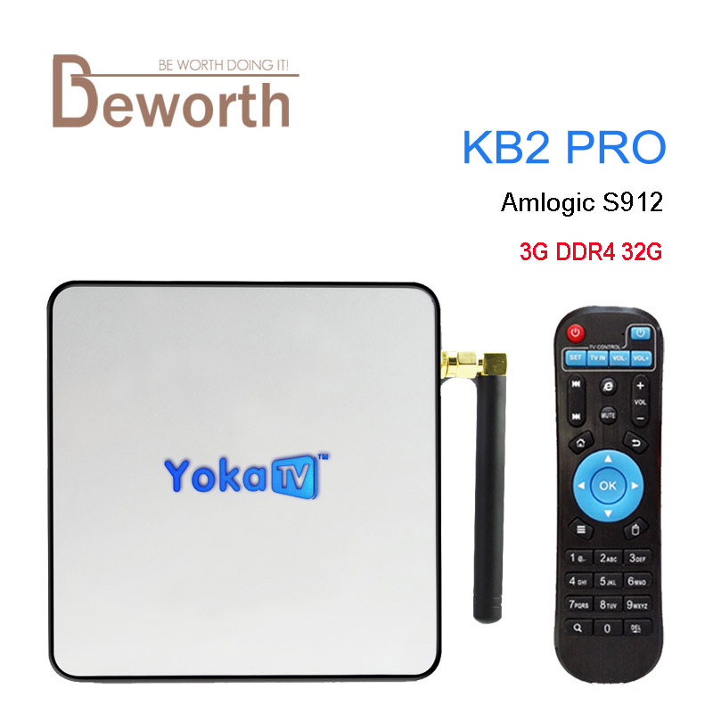 3GB DDR4 RAM 32GB Android 6.0 TV Box YOKATV Amlogic S912 Octa Core KB2 Pro 3D Smart Media Player Wifi BT 4K 1000M Set Top Box yokatv kb2 pro android 6 0 tv box 3gb ram 32gb rom amlogic s912 octa core android tv box dual wifi bt4 0 uhd 4k 2k media player