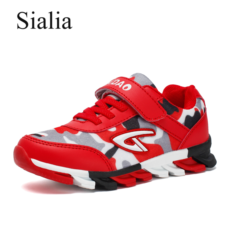 Sialia Sport Children Shoes Boys Sneakers Girls Leather 2018 Kids Sneakers School Brand Breathable Mesh jongens schoenen Shoes