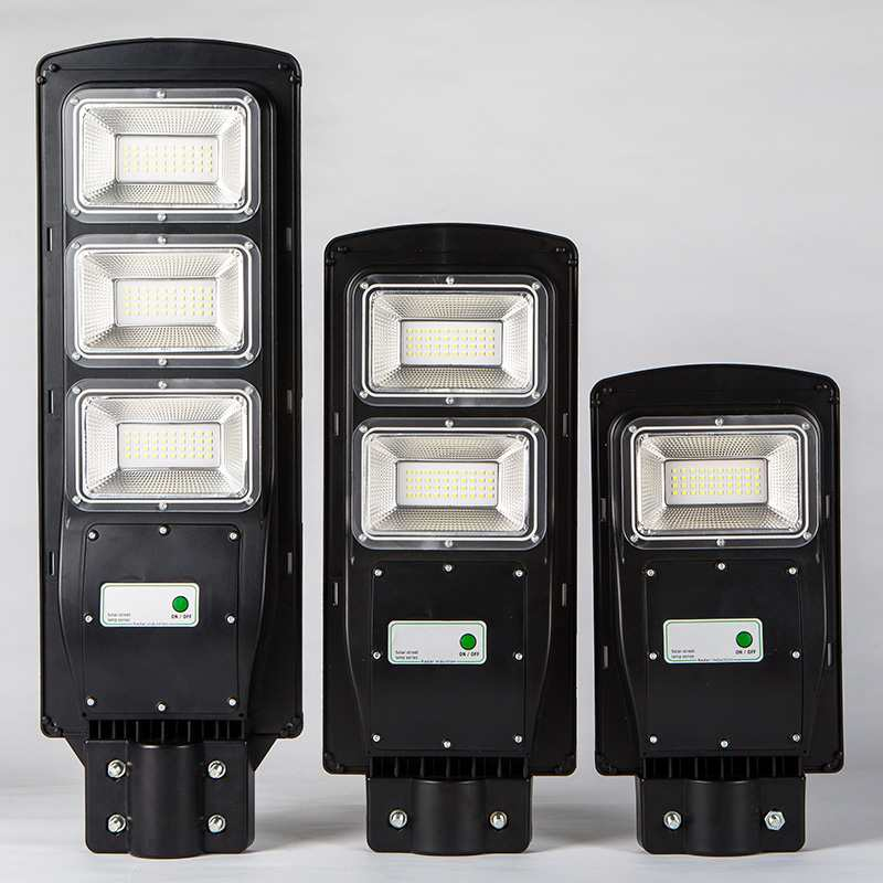 30//60//90W LED Solar Street Light Radar PIR Motion Sensor Wall Timing Lamp Remote