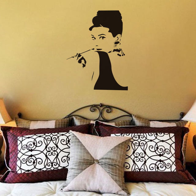 Breakfast At Tiffany\'s Audrey Hepburn Art Sticker Removable Decal ...