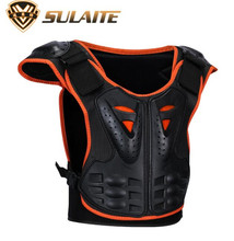 SULAITE Kids Body Motorcycle Armor Children Vest Protective Suitable for 4-12 Age Skate Board Skiing Pulley Jackets
