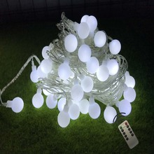 YIcolor 10M NEW Outdoor Wireless Remote Control Garland Fairy LED Ball String Lights Wedding Home Indoor Decoration