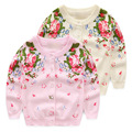 Cardigan Spring, GIRLS autumn new sweater jacket, 100% cotton good quality single-breasted sweater baby girl flower outfit