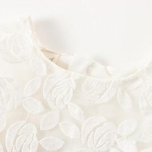 Image 3 - Neugeborene Mädchen Prinzessin Baby Kleid Kinder Hochzeit Festzug Spitze Baumwolle Kleider Ballkleid 0 2Y weiß