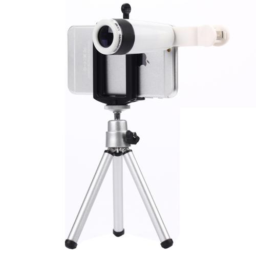 8X Zoom Óptico Teleobjetivo Lente Lentes de Teléfono Móvil Teléfono Celular lente para iphone 6 5s samsung/cámara digital de escritorio trípode