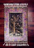 2'x3' Tree of Life Turkish Carpet Silk Rug Hand Made Wall Carpets hand Weave Persian Rugs Room Mat