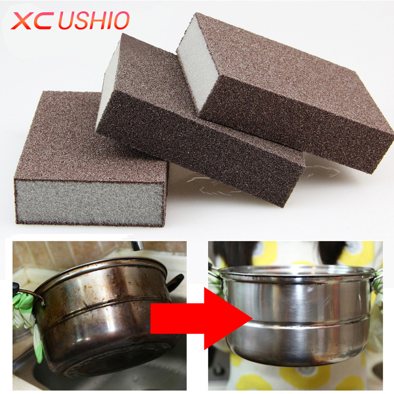 10pcs/lot High Density Strong Nano Emery Magic Sponge Kitchen Bathroom Removing Rust Sponge Eraser Descaling Cleaning Tools