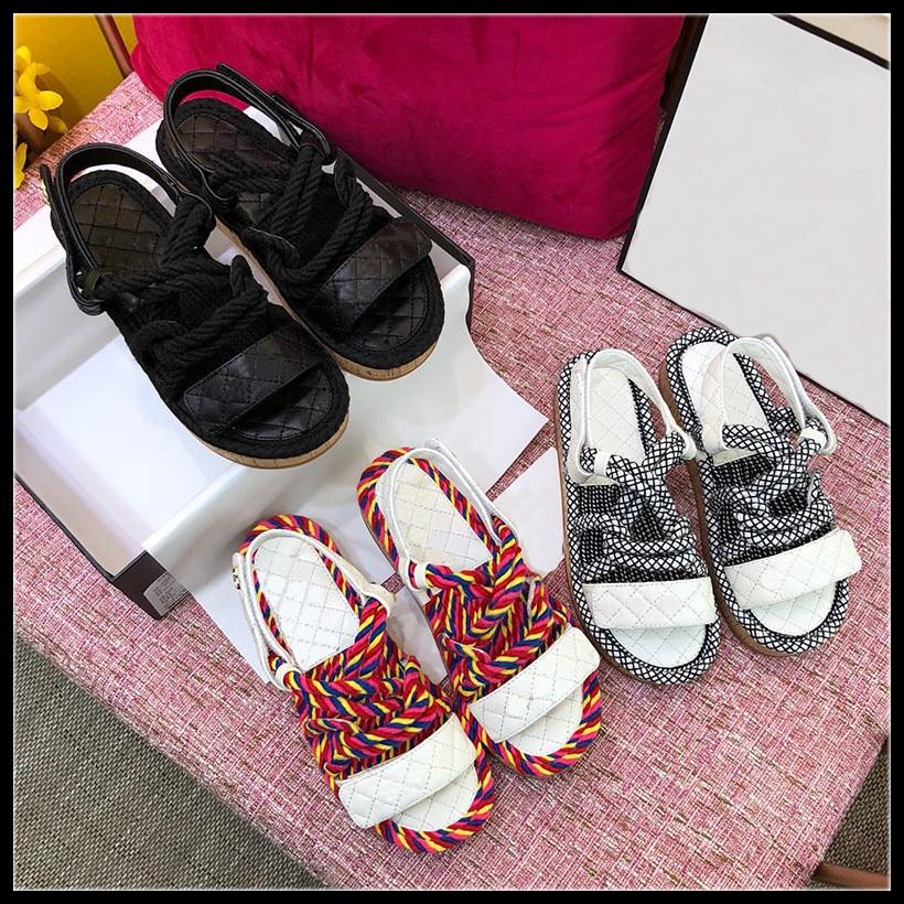 2019ss Neue Heißer Verkauf Frauen Sandale Marke Desginer Frauen Sommer Schuhe Mode Desgin Casual Sandalen Schuh Größe 35-40 Frauen Sandalen Schuhe