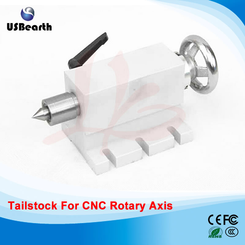 Russia no tax CNC Tailstock for Rotary Axis, A Axis, 4th Axis CNC Router Engraver Milling tailstock 002 no tax to russia 4 axis cnc milling machine cnc 6040 router engraver usb 2 2kw with rotary axis cnc controller and limit switch